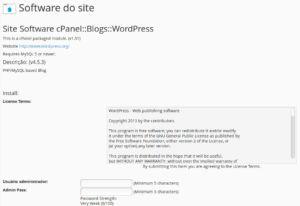 wordpressCpanel