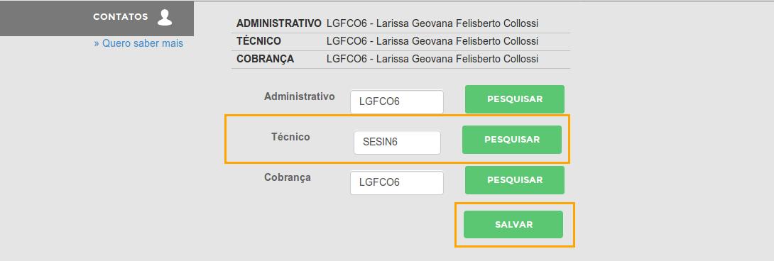 Alterando o contato técnico no registro.br